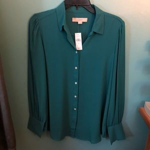 Teal Loft Blouse